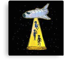aliens kidnap Canvas Print