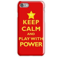 Keep Calm and Play With Power iPhone Case/Skin