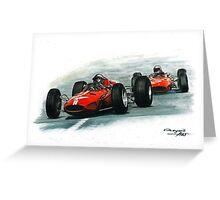 1965  Ferrari 158/Ferrari 1512 Greeting Card