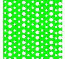 Polka Dots (Green/White) Photographic Print