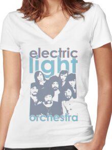 E.L.O. Modern 3D Women's Fitted V-Neck T-Shirt