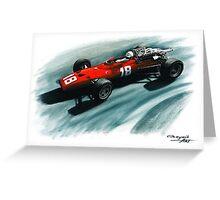 1967  Ferrari 312 F1 Greeting Card