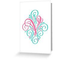 Monogram Typography Letter V Greeting Card