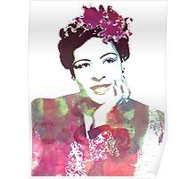 Billie Holliday watercolour portrait Poster