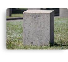 empty gravestone unknown soldier Canvas Print