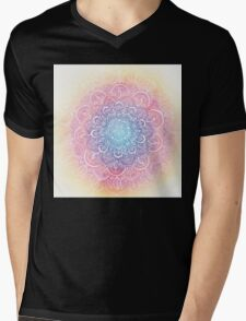 Rainbow Dust Mandala Mens V-Neck T-Shirt