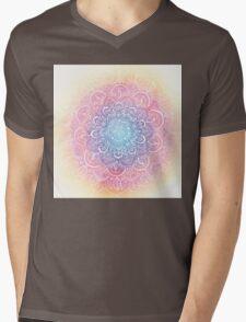 Rainbow Dust Mandala Mens V-Neck T-Shirt