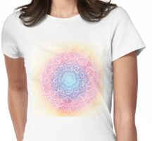 Rainbow Dust Mandala Womens Fitted T-Shirt
