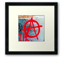 Anarchy Graffiti Framed Print