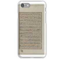 Leaf from a Qur'an, 17th-18th century. iPhone Case/Skin
