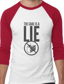 Portal - Cake is a Lie Men's Baseball ¾ T-Shirt