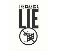Portal - Cake is a Lie Art Print