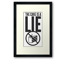 Portal - Cake is a Lie Framed Print