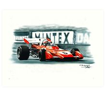 1971  Ferrari 312B2, Great Britain GP Art Print