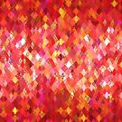 Red Abstract Harlequin Pattern  by Ra12