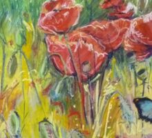 Poppies and Butterflies, remembrance and new beginnings Sticker
