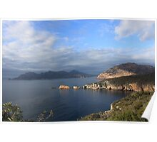 Day Breaks over Freycinet Poster
