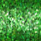 Green Abstract Harlequin Pattern  by Ra12