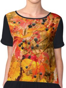 Wild grapes (orange) Chiffon Top