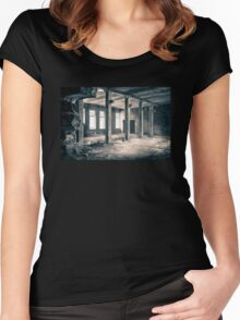 Window light (abandoned factory) Women's Fitted Scoop T-Shirt