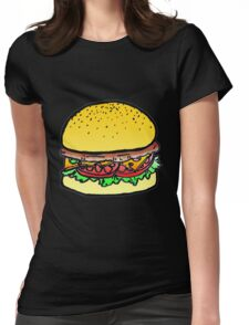 colored burger Womens Fitted T-Shirt