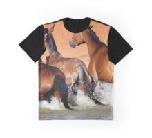 Brumbies at the waterhole Graphic T-Shirt
