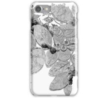 Black & White & Blue...berries from Nova Scotia iPhone Case/Skin