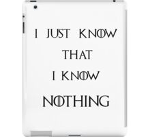 And Socrates said... iPad Case/Skin