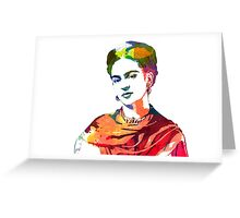 Frida Kahlo watercolour portrait Greeting Card