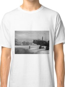 Time to go: Lancasters on dispersal, B&W version Classic T-Shirt