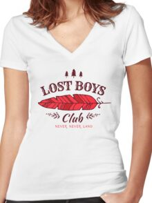 Lost Boys Club // Peter Pan Women's Fitted V-Neck T-Shirt