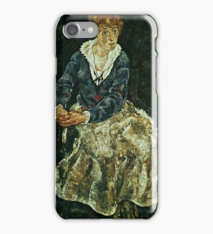 Egon Shiele - The Artists Wife Seated iPhone Case/Skin