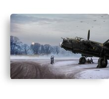 Time to go: Lancasters on dispersal Canvas Print