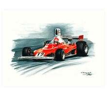 1975  Ferrari 312T Art Print