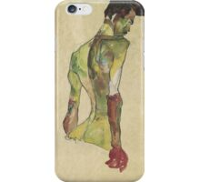 Egon Shiele - Male Nude In Profile Facing Right iPhone Case/Skin