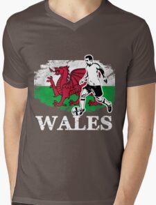 Soccer - Fußball - Wales Flag Mens V-Neck T-Shirt