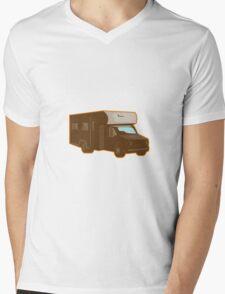 Campervan Motorhome Retro Mens V-Neck T-Shirt