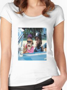 Master Roshi x Ice Cube collab Women's Fitted Scoop T-Shirt