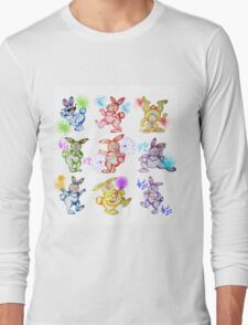 Easter bunny dancing. Be crazy! Have fun! Long Sleeve T-Shirt