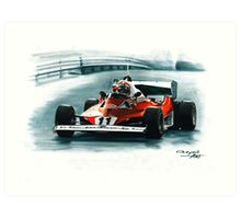 1977  Ferrari 312T6 Art Print