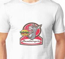 Donkey Serving Burger Diner Retro Unisex T-Shirt