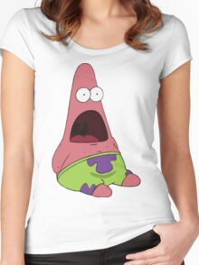 Surprised patrick star Women's Fitted Scoop T-Shirt