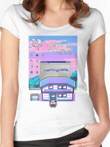 8-bit vaporwave aesthetics Women's Fitted Scoop T-Shirt