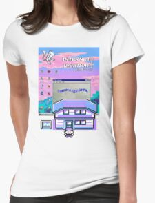 8-bit vaporwave aesthetics Womens Fitted T-Shirt