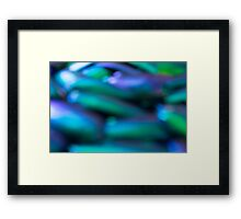 Abstract blurred background Framed Print