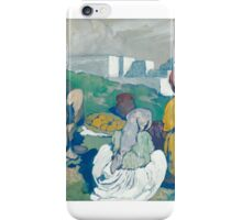 LÉON CAUVY ; A SHERPHERD AND HIS FAMILY iPhone Case/Skin