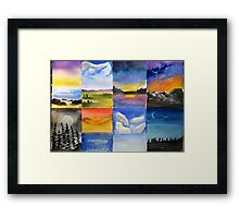 Different scapes ... Framed Print