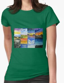 Different scapes ... Womens Fitted T-Shirt