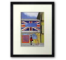 british shop Framed Print
