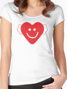 Cute Candy Heart - emerald Women's Fitted Scoop T-Shirt